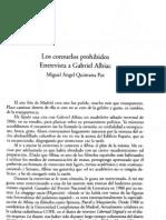 Los Consuelos dos Entrevista a Gabriel Albiac