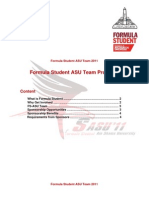 Formula Student ASU Team 2011 Proposal