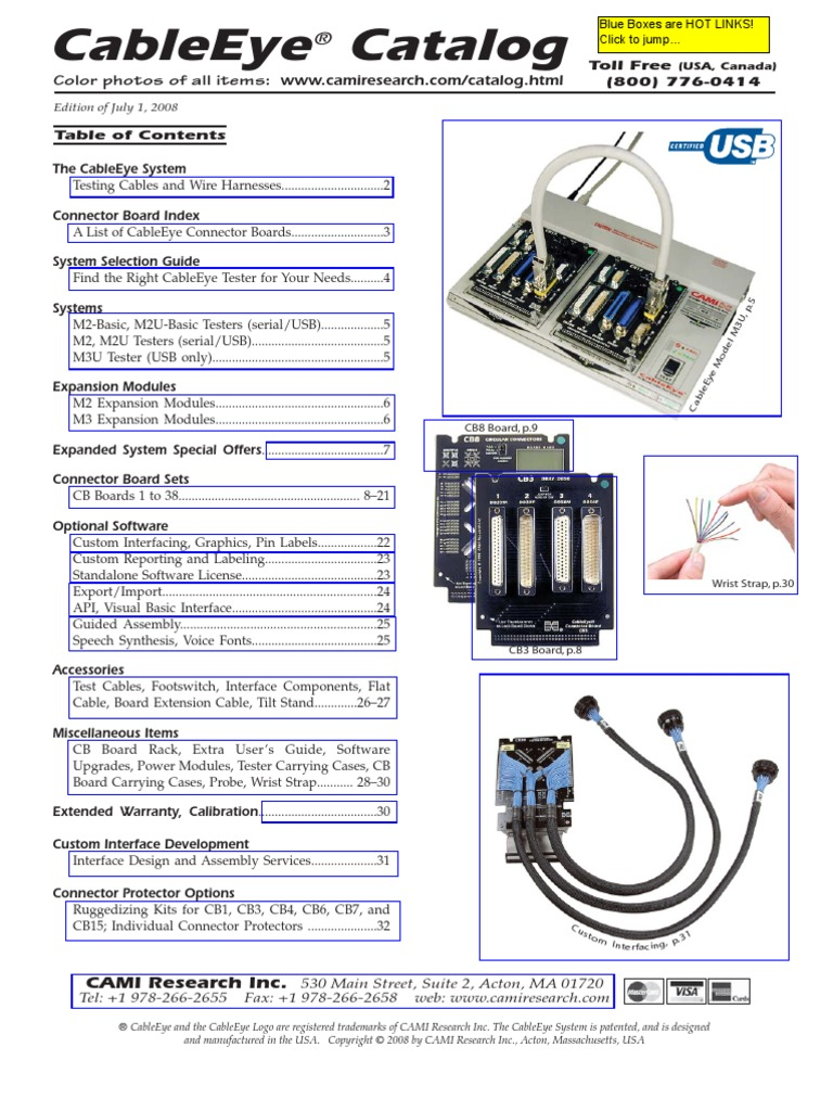 Cableeye Catalog W Prices Electrical Connector Usb Wiring Accessories List