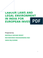 Labour laws and legal environment in India for European investors