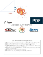 OBF2008 1Fase 3serie Prova