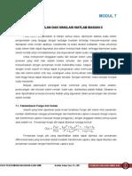Pemodelan Dan Simulasi Matlab 2
