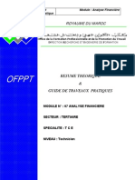 Analyse Financière - Guide de travaux pratique (Formation Professionnelles du Maroc)