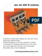 amplificador 200wHD