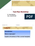 Test Plan Workshop