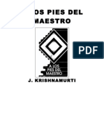 A Los Pies Del Maestro - Jiddu Krishnamurti