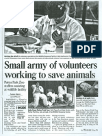 Small army of volunteers working to save animals