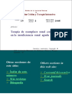 Terapia de Reeemplazo Renal (Uf)