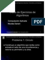clase ejercicios algoritmos 1