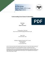 Guo_Understanding Stock Return Predictability