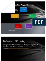 Integrating the Five Ways of Knowing