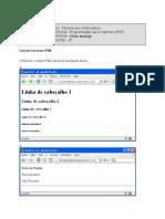 Exercicios HTML