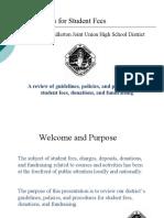 Student Fee Guidelines - Classroom Teachers