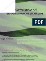 Caracteristicas Del Terapeuta Humanista Grupal