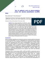 Estudio sobre  el efecto del ácido galbanic  sobre la degradación de la foto-oxidativo  de polietileno lineal de baja densidad (LLDPE) películas