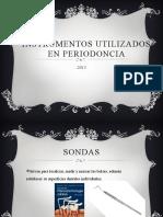 Instrumentos Utilizados en Periodoncia
