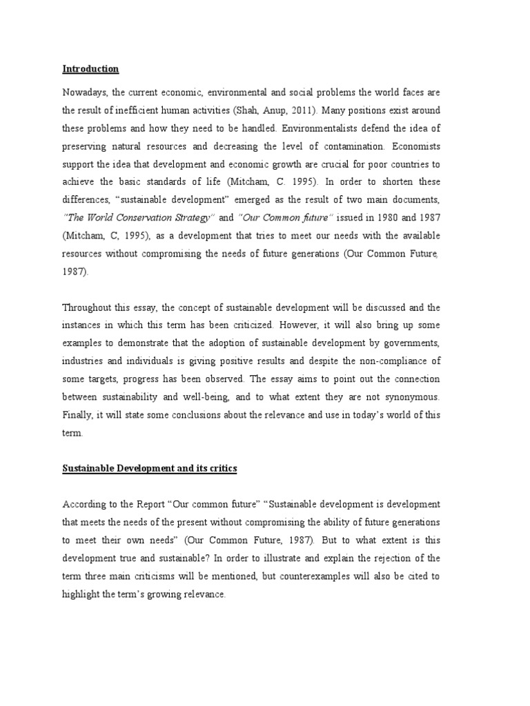 science technology sustainable development essay writing