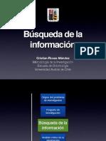 Clase Búsqueda información en ciencias biomédicas