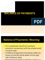 Balance of Payments 2011