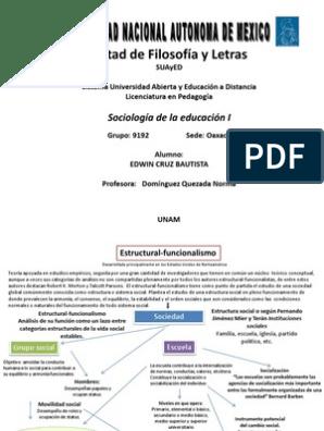 Educación Y Estructural Funcionalismo Teorías Cientificas