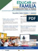 PLAN CANARIO FORMACIÓN PARA LA FAMILIA - EDUCAR EN FAMILIA - FASNIA