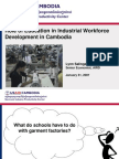Cambodia Garment Industry WFA Presentation to Educators