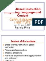 Content-based instruction (saint augustine 1980) ppt video.