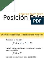 Método Posición Falsa, Análisis Numérico (Andrés Lara, Corporación Universitaria Autónoma del Cauca)