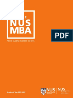 NUS MBA Aug 2011 Brochure