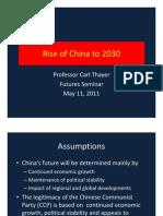Thayer China's Rise Scenarios to 2030