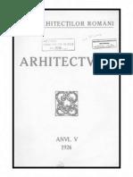 Revista Arhitectura - anul 1926