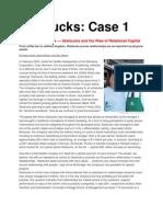 Case 1 Starbucks Motivation Leaderhip Culture