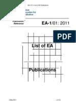 Ea-1-01 Lista Doc Invigoare