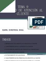 Tema 9-Servicio de atención al cliente- Raquel Hinestrosa Rosal