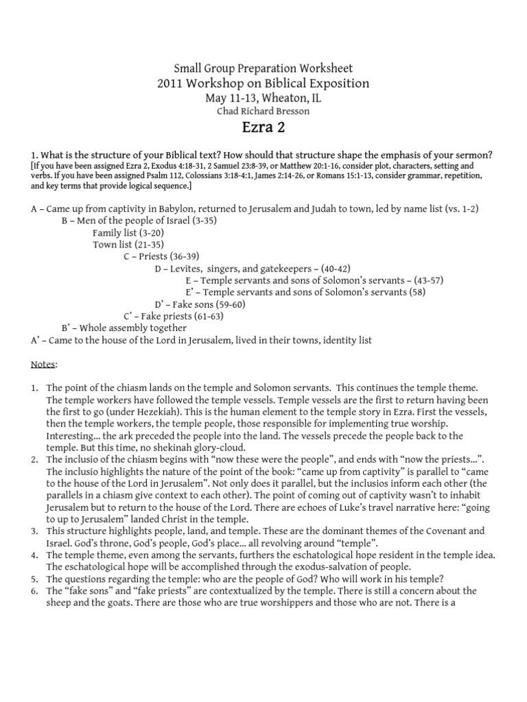 Worksheets Sermon Preparation Worksheet worksheets sermon preparation worksheet pureluckrestaurant free small group ezra 2 book of exodus temple in jerusalem