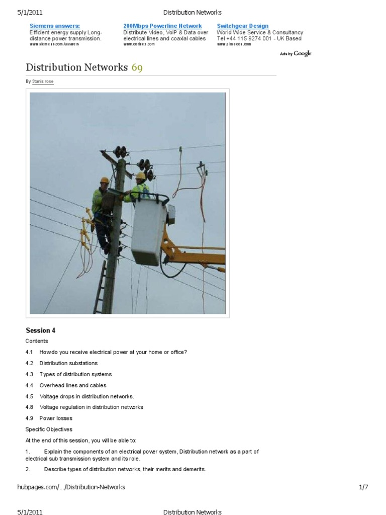 Distribution Networks   Electric Power Distribution   Electrical ...