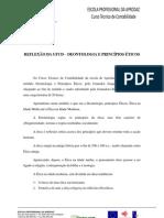 REFLEXÃO DA UFCD -  DEONTOLOGIA E PRINCÍPIOS ÉTICOS