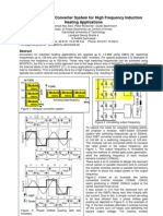A Modular IGBT Converter System for High Frequency Induction Heating Applications