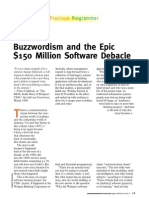 Bus Sword Ism and the Epic $150 Million Software Debacle