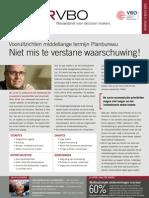 Vooruitzichten middellange termijn Planbureau. Niet mis te verstane waarschuwing!, Infor VBO, 13 mei 2011