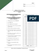 Add Maths Paper 1 Midyear f52011