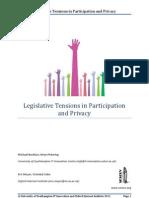Legislative Tensions In Participation And Privacy