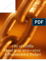 City of Griffin Fiscal Year DRAFT 2011-2012 Budget
