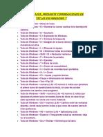 Lista de Atajos Win7