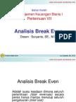 Analisis Break Even