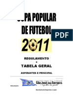 Boletim 1 - Copas Populares 2011
