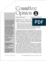 ACOG Comittee Opinion - Induction of Labour for VBAC