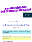 Actividades Del Promotor de Salud