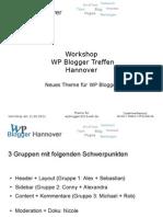 WP Blogger Treffen Hannover - Workshop Theme für Blog