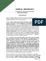 Resolución DGN-0254-2011 Importación Hidrocarburos y Derivados